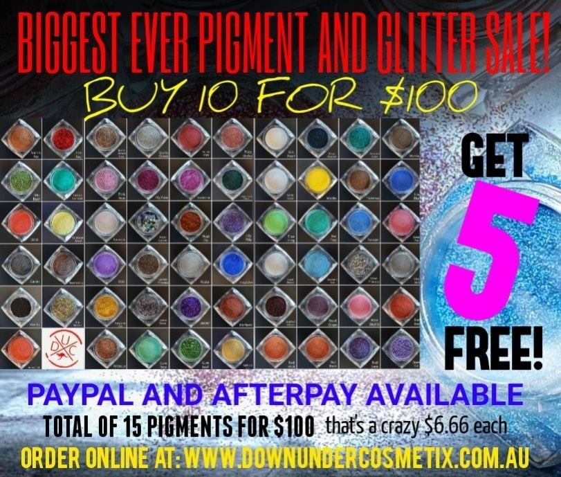 THE BIGGEST PIGMENT AND GLITTER SALE EVER