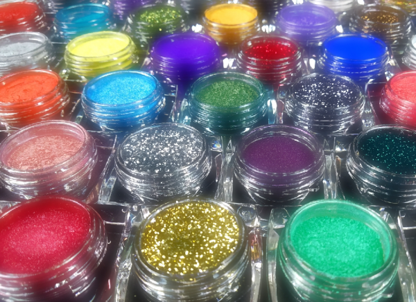 70PC SPECIAL COLLECTION OF DUC PIGMENTS AND GLITTERS